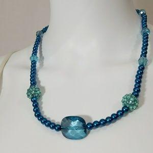 Blue Glass Beads Earrings